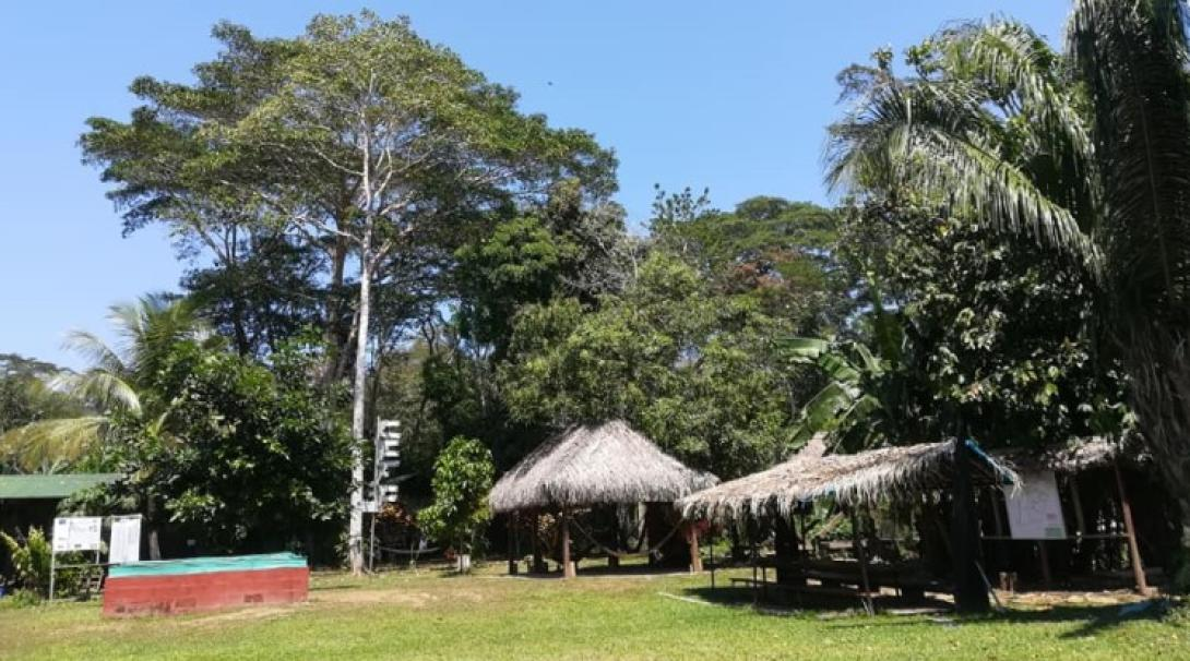 The entrance to the Taricaya lodge